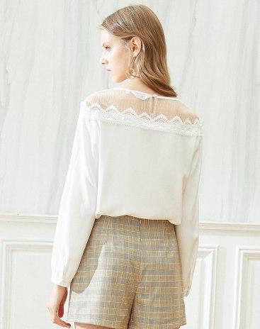 White Long Sleeve Standard Women's Shirt