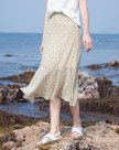 Beige 3/4 Length Women's Skirt