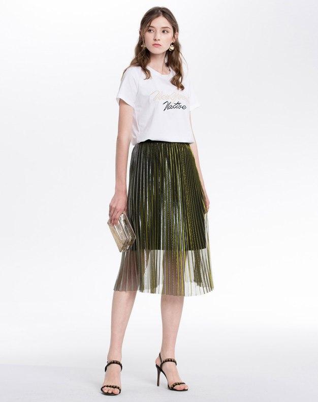 3/4 Length Women's Pleated Skirt