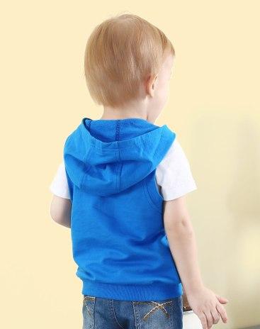 Синий жилет для мальчиков