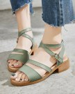 Green Middle Heel Anti Skidding Women's Sandals