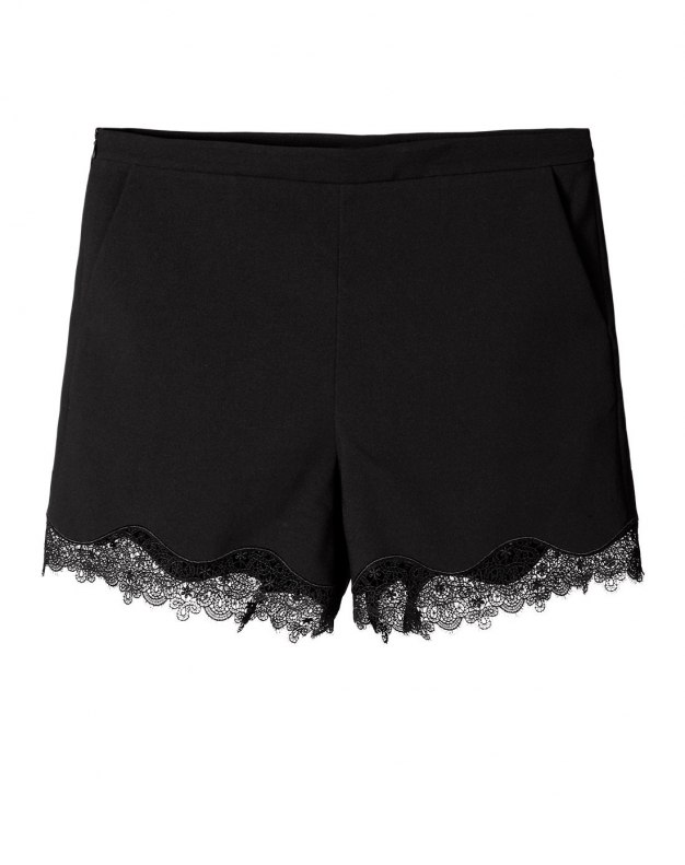 Black Lace Short Women's Pants