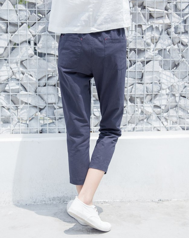Blue Cropped Women's Pants