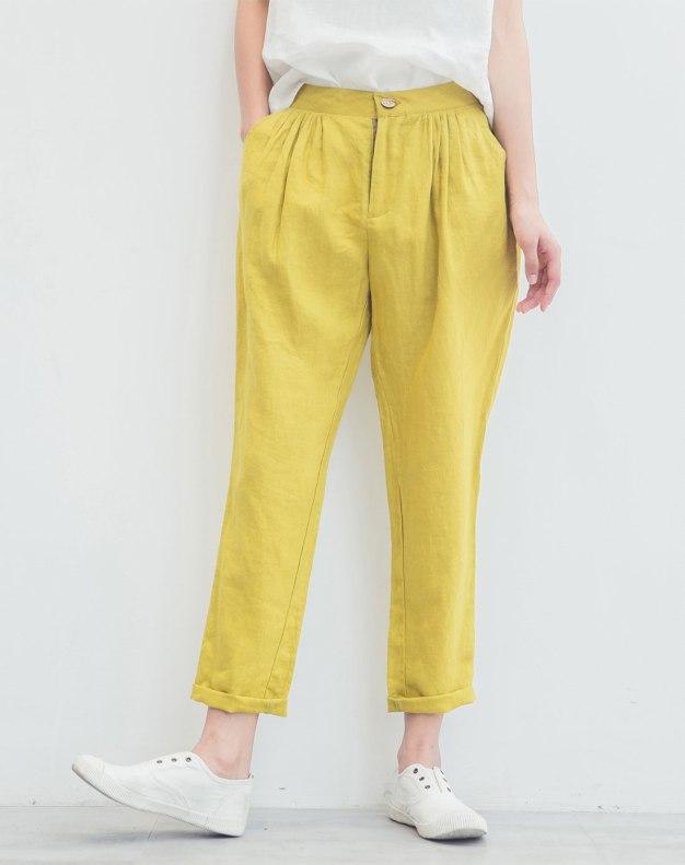 Yellow Long Women's Pants