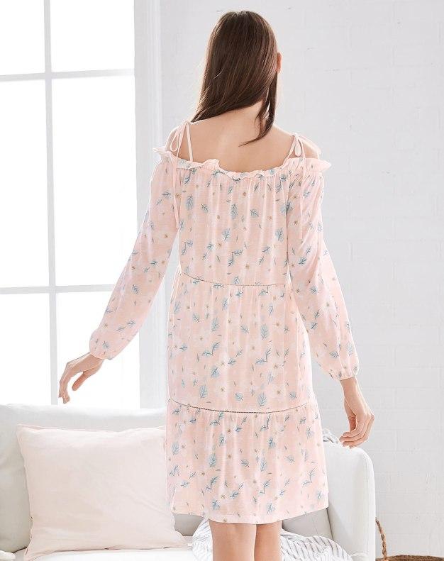 Cotton Long Sleeve Thin Women's Sleepwear