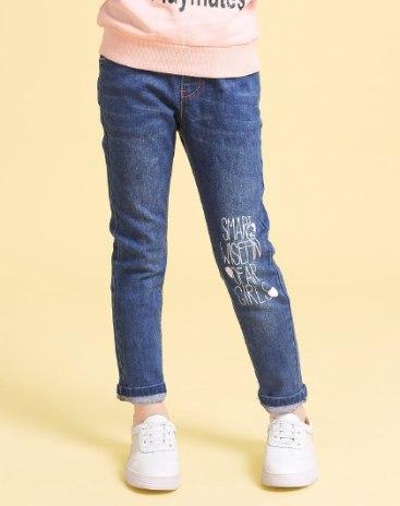 Blue Girls' Pants