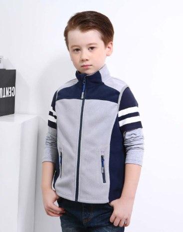 Серый жилет для мальчиков