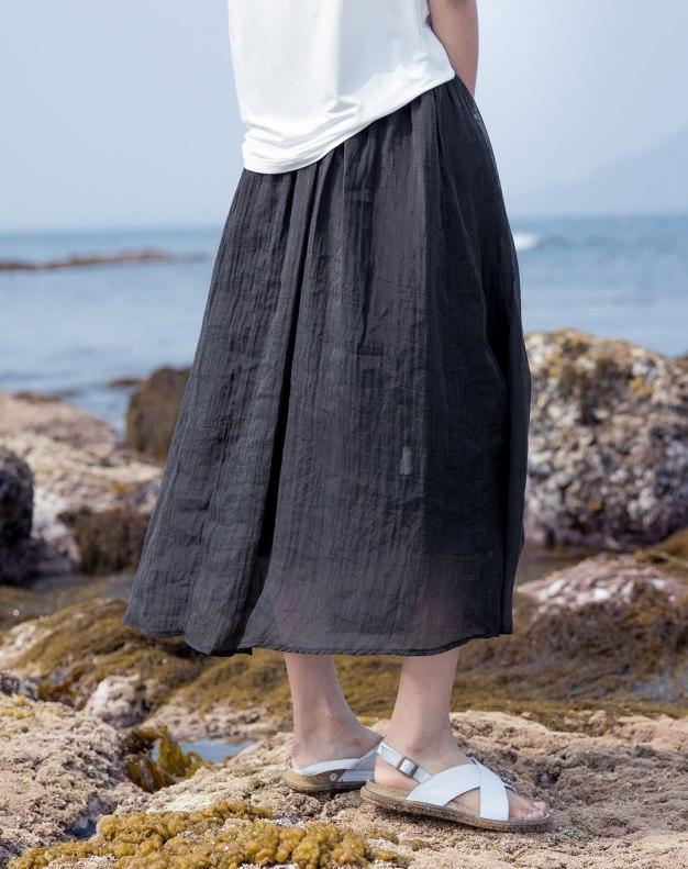 Black Long Women's Skirt