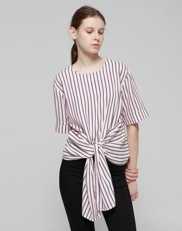 Red Round Neck Short Sleeve Women's Shirt