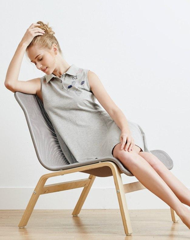 Blue Cotton Sleeveless Thin Women's Sleepwear