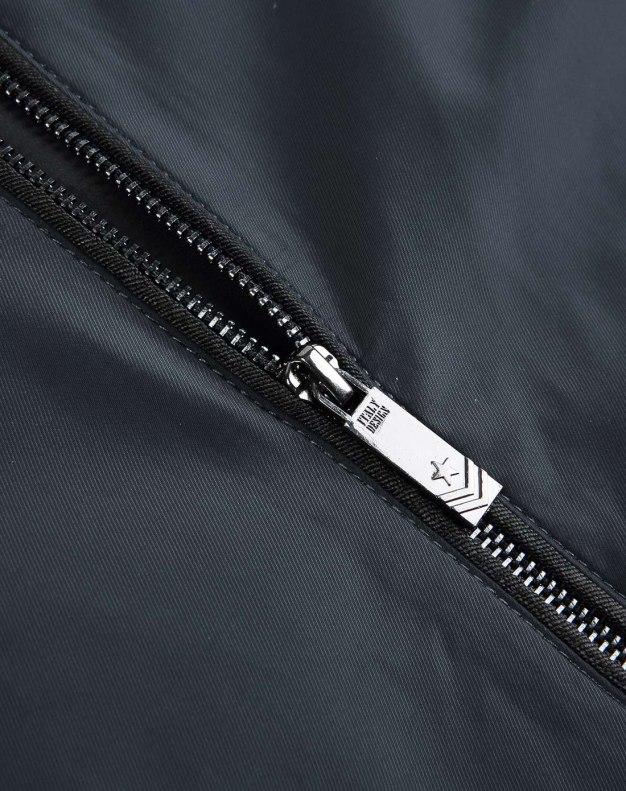 Gray Baseball collar Long Sleeve Fitted Men's Jacket