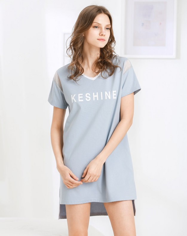 Others1 코튼 반팔 티셔츠 여성 잠옷