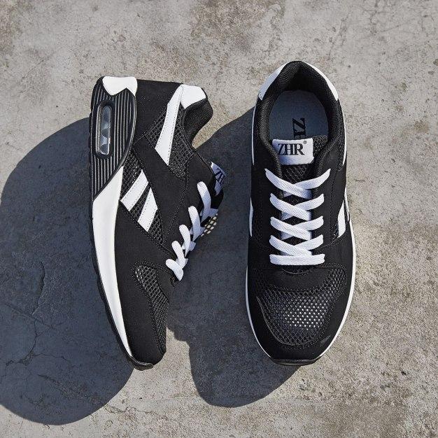 Black Round Head Men's Casual Shoes