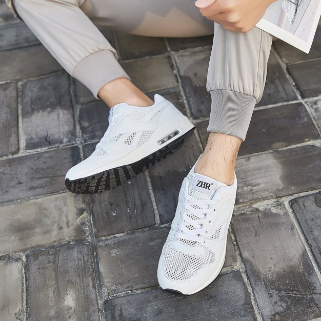 White Round Head Men's Casual Shoes