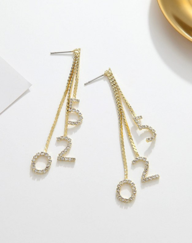Gold Roman Numeral Earrings