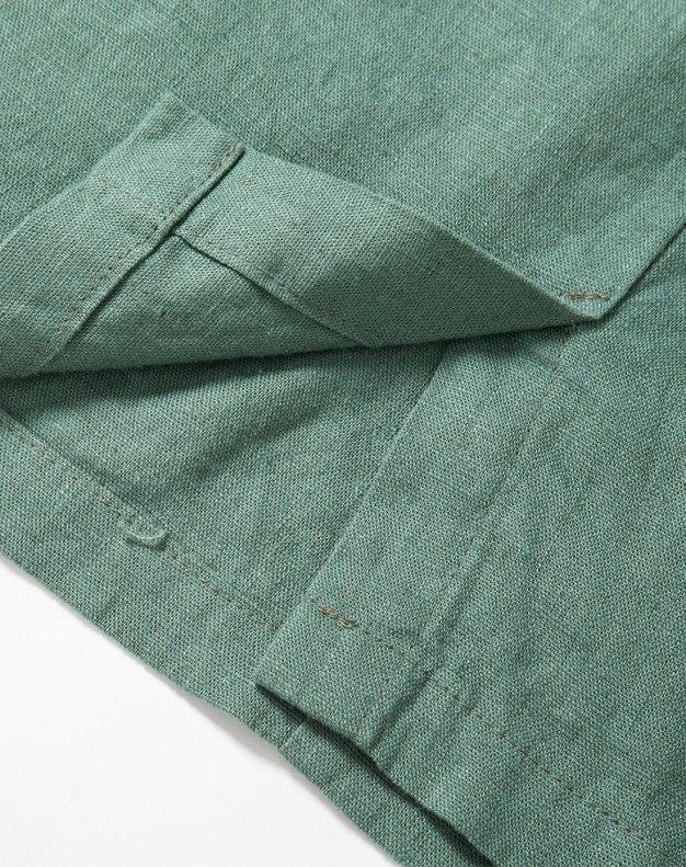 Green 3/4 Length Women's Skirt
