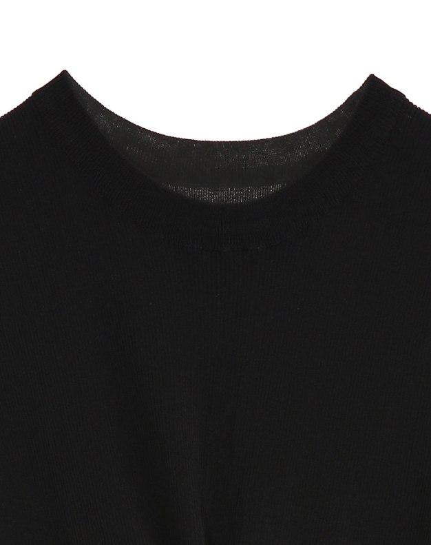 Black Plain Women's Knitwear