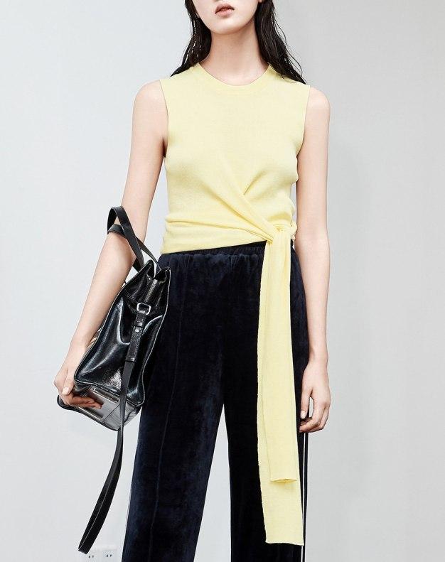 Yellow Plain Women's Knitwear