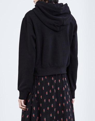 Black Plain Long Sleeve Loose Women's Sweatshirt