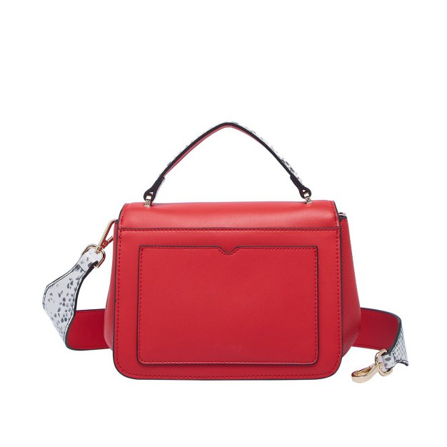 Red Cowhide Leather Medium Women's Tote