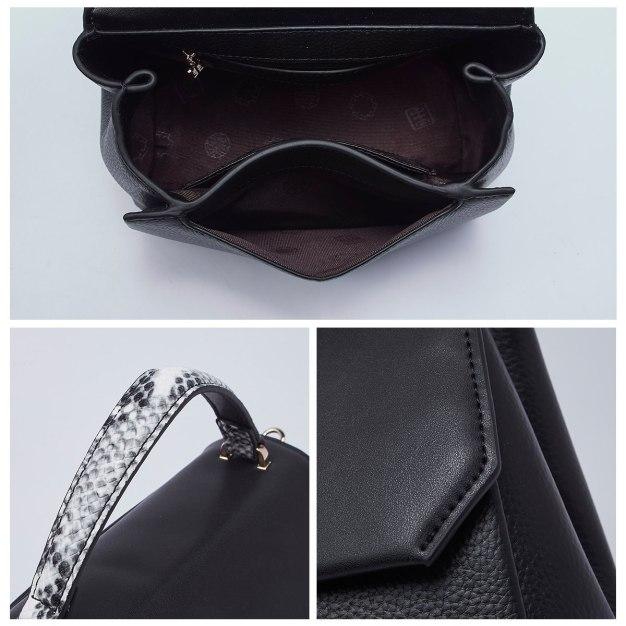 Black Cowhide Leather Medium Women's Tote