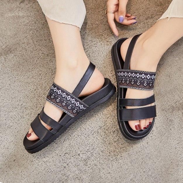 Black Flat Women's Sandals