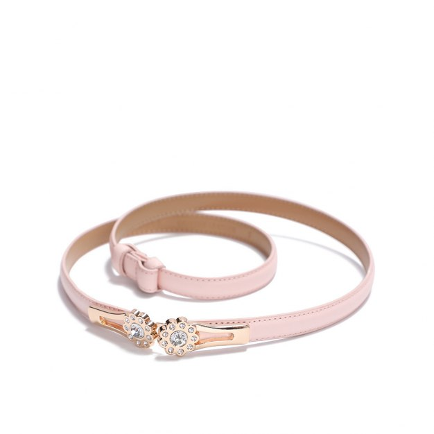 Pink Glossy Two Plies Cowhide Belt