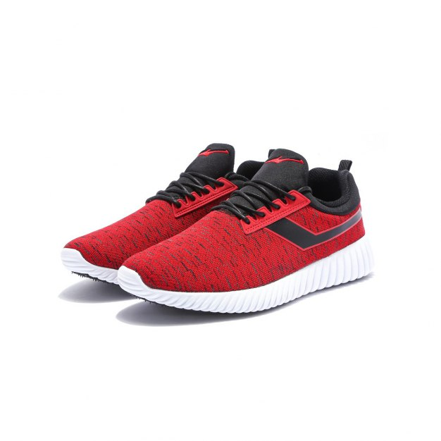 Red Wear-Resistant Outdoor Men's Sneakers
