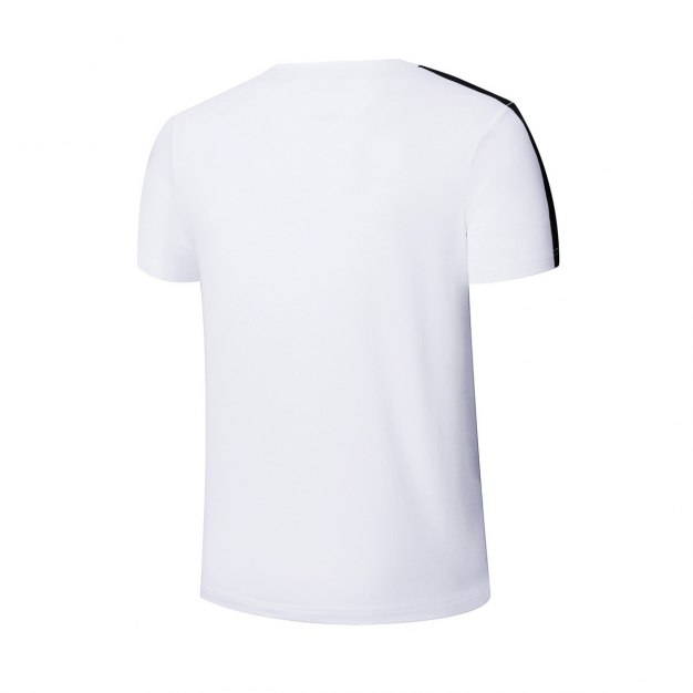 White Short Sleeve Quick Drying Fitted Round Neck Men's T-Shirt