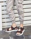 Black Portable Men's Sandals
