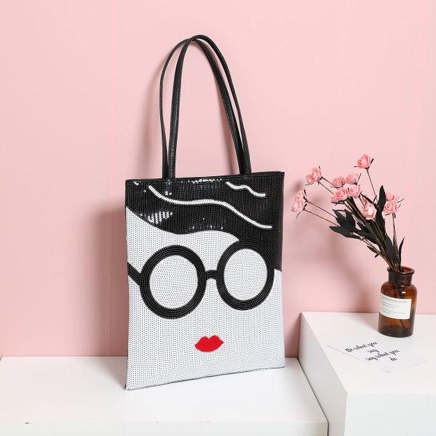 White Pvc Tote Bag Big Women's Shoulder Bag
