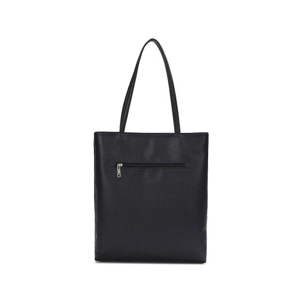 Black Pvc Tote Bag Big Women's Shoulder Bag