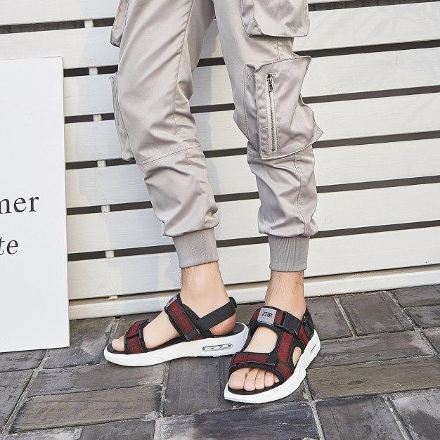 Red Portable Men's Sandals