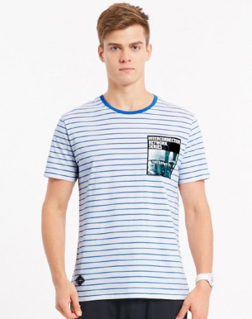 Round Neck Short Sleeve Fitted Men's T-Shirt