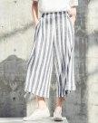 Blue 3/4 Length Women's Pants