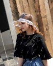 White Boater Polyester Bucket Hat Hat & Cap
