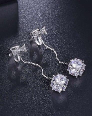 White Universe Earrings