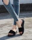 Black Flat Wear-Resistant Women's Sandals