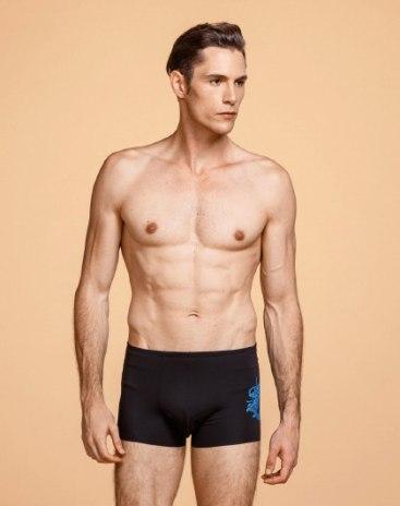 Black Modal Seamless Men's Underwear