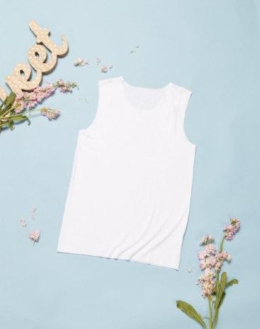 White Sleeveless Standard One-Piece Girls' Cami
