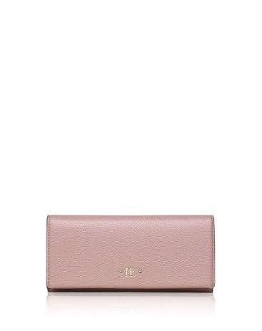 Pink Plain PU Purse(Long) Small Women's Wallet
