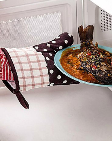 Single piece Oven Mitts