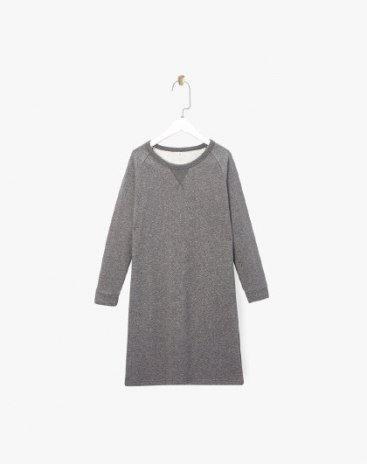 Round Neck Long Sleeve 3/4 Length Loose Women's Dress
