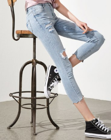 Indigo Ripped Women's Jeans
