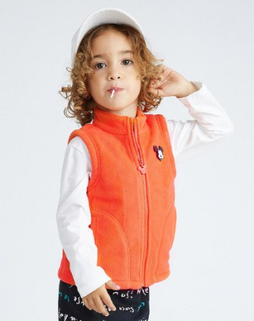 Others1 Polyester One-Piece Sleeveless Zipper Fly Baby's Outerwear