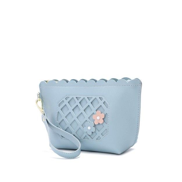 Blue Women's Wristlet