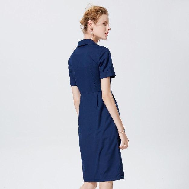 청색 여성 드레스