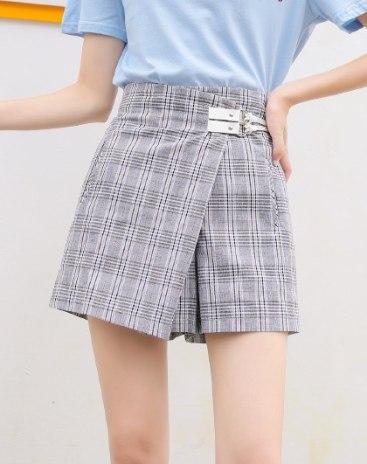 White High Waist Women's Asymmetric Skirt