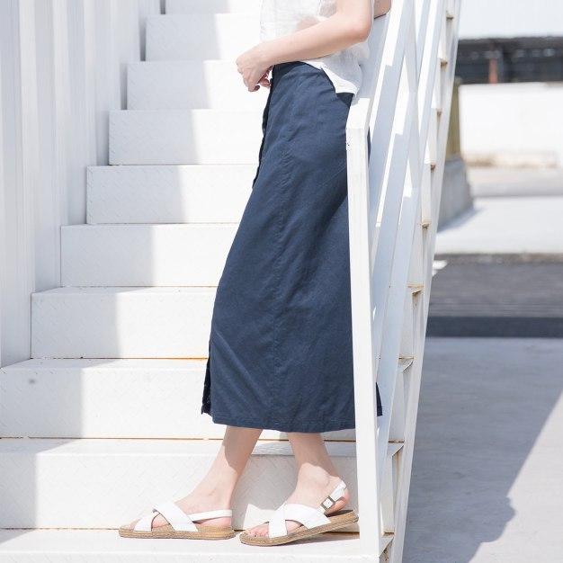 Indigo 3/4 Length Women's Pencil Skirt