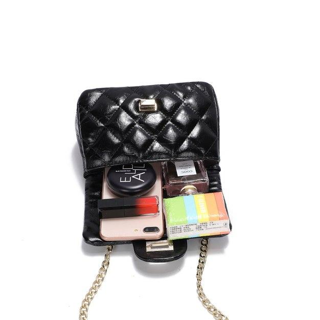 Black Plain PU Purse Small Women's Crossbody Bag